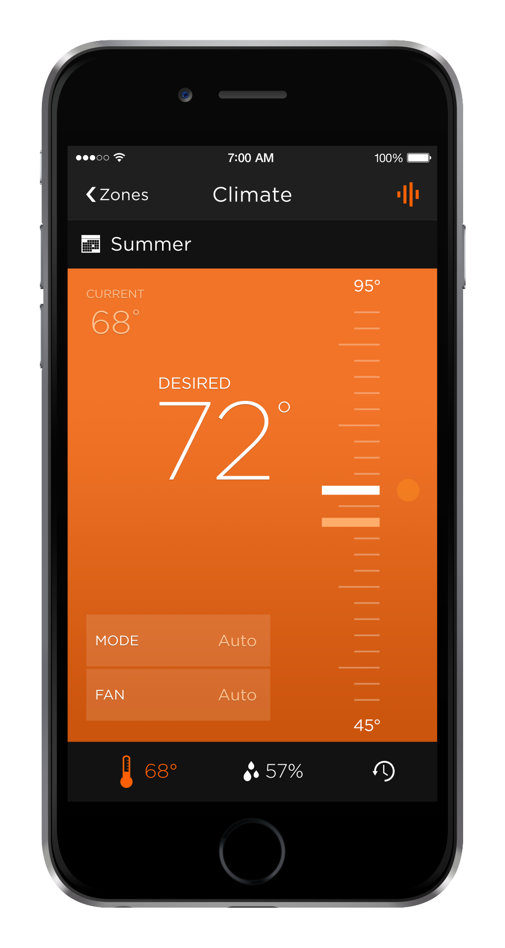Home Automation HVAC iPhone